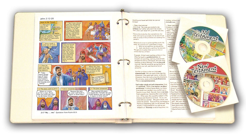 Illustrated Bible in binder